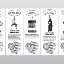 Record Marketplace Print Ad Series